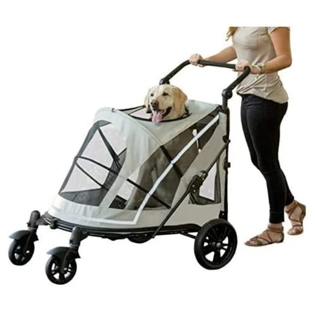 Pet Gear Happy Trails Plus Pet Stroller with Weather Guard